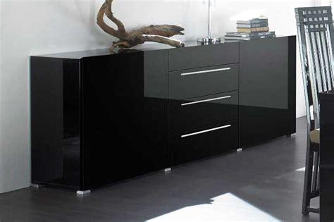 kommode sideboard schwarz kommode schwarz lack elegantes design inkl sideboard 200