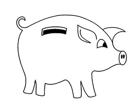 piggy bank coloring worksheets coloring pages