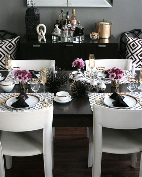 dining table setup modern dining table setting ideas my modern glam table get