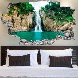 Vinyl 3d Wandsticker by 3d Vinyl Wandsticker Wasserfall Wall Wallpaper