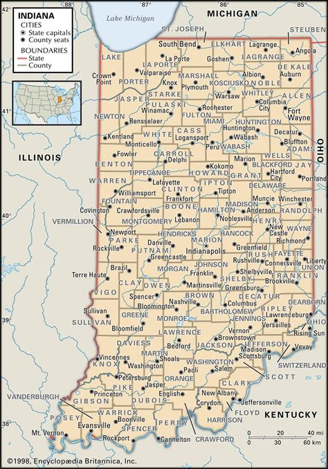 county map of indiana state and county maps of indiana