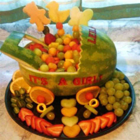 Fruit Baskets For Baby Showers With Watermelon by Fruit Basket For A Baby Shower Edible Fruit Creations