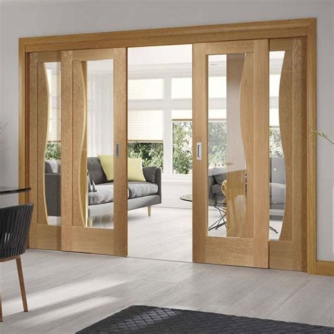 Sliding Wood Doors Interior Wooden Sliding Door Designs For Living Room With Glass And Gray Sectional Sofa Lestnic