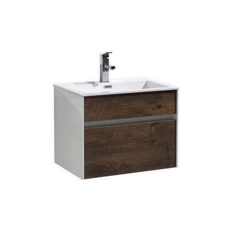 Modern Wood Bathroom Vanity Fitto 24 Quot Wood Wall Mount Modern Bathroom Vanity