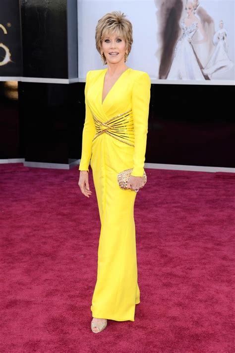 Jane Fonda Yellow Dress | 2013 oscar awards finally revealed high fashion red carpet