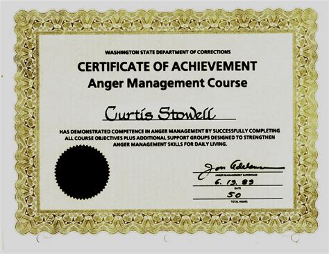 anger management certificate template delighted deacon ordination certificate template images