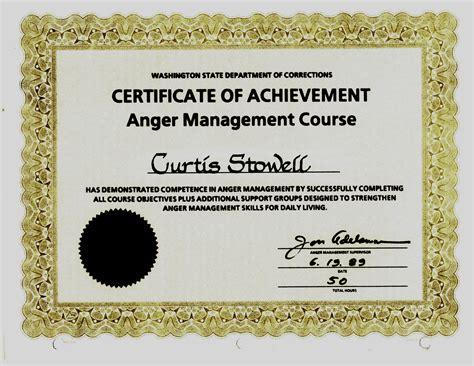 anger management certificate template best anger management certificate template gallery