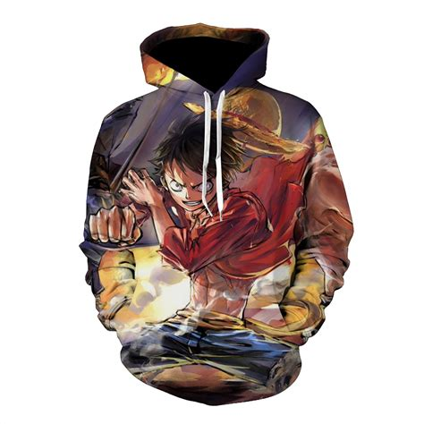 Hoodie Luffy drop shipping 3d hoodie sweatshirt one luffy