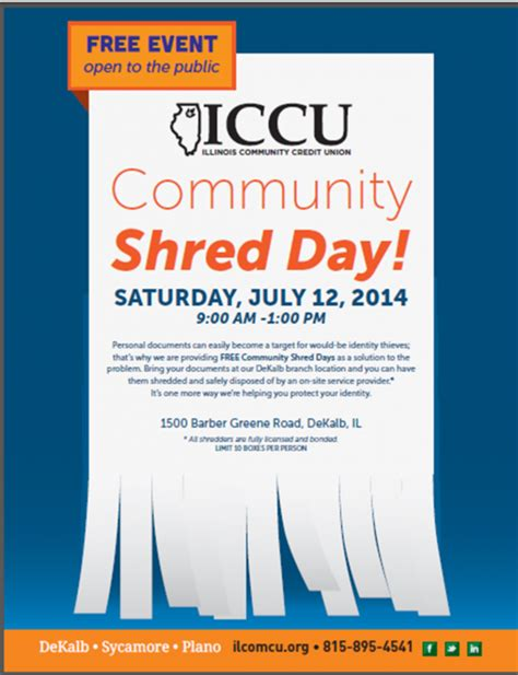 Forum Credit Union Shred Day 2014 Community Shred Day Offered Dekalb County