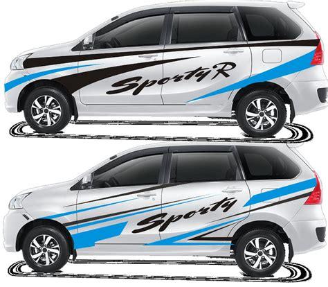 Stiker Logo All New Pajero Merah Setir Mobil Sticker Tahan Air Jsl 93 modifikasi stiker all new avanza hitam 2017 modifikasi mobil avanza