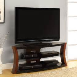 tv stands altra bentwood and glass tv stand 1722096