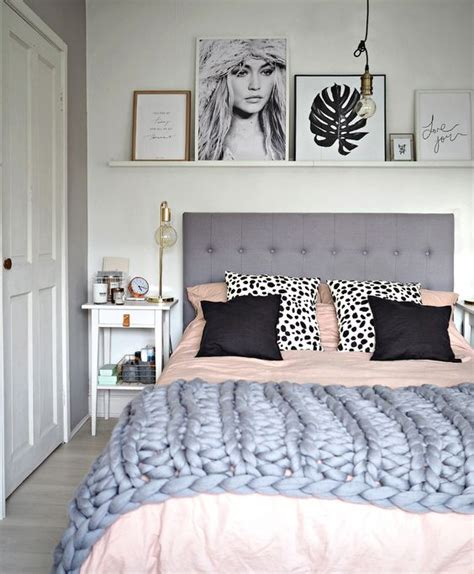 grey pink and white bedroom giving your bedroom a scandinavian makeover