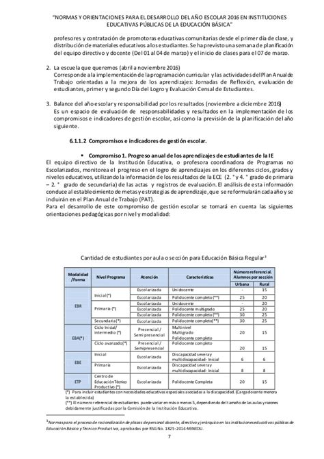 normas para inicio del ao escolar 2016 norma tecnica del inicio del ao escolar 2016