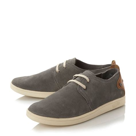 penguin shoes original penguin perforated detail cupsole shoe in