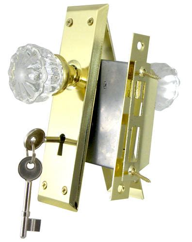 Menards Door Knobs by Mortise Lock With Glass Knobs And Polished Brass