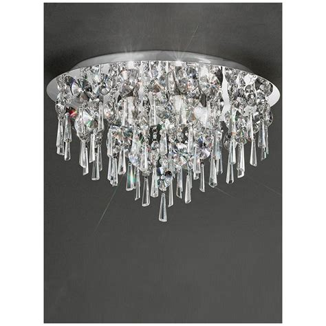 crystal bathroom ceiling light franklite jazzy crystal chrome semi flush bathroom ceiling
