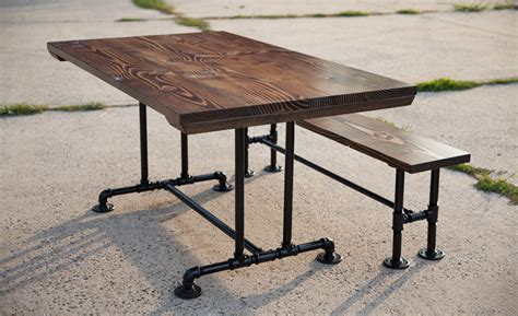industrial dining bench industrial dining tables emmorworks