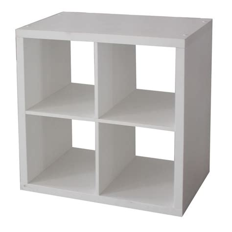 clever cube 2 x 2 white storage unit bunnings warehouse