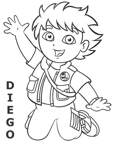 dora winter coloring pages diego coloring page to print or download for free