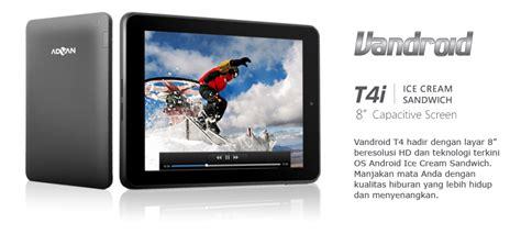 Tablet Advan Canggih harga hp android advan vandroid t4i