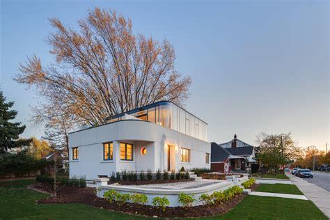 restored heritage home  art moderne architecture