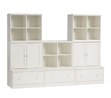 3 drawer dresser with cubbies cameron 3 cubby 3 drawer base 2 cabinet set pottery