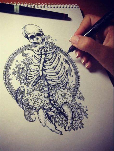 mermaid skeleton tattoo skeleton tattoos ink inked sketch draw