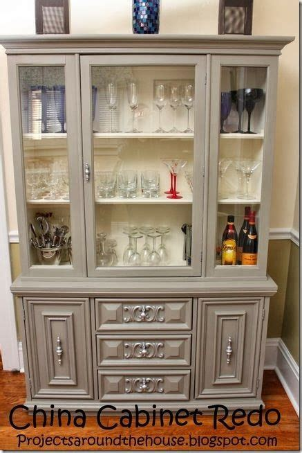 esszimmer china hutch china cabinet redo with chalk paint crafty crafts home