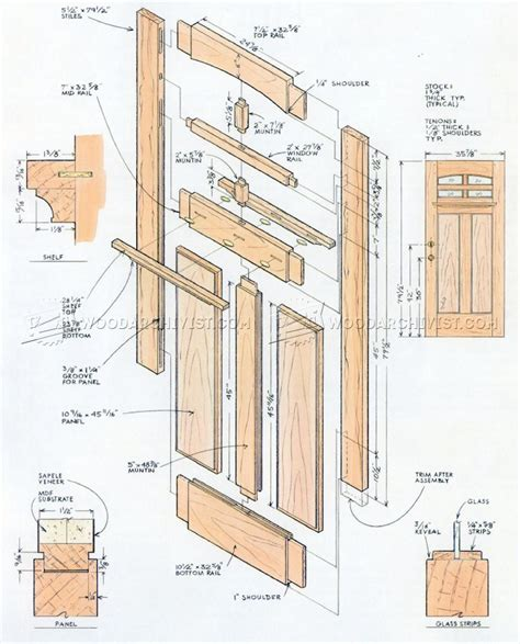 Exterior Door Construction Details Front Door Plans Woodarchivist