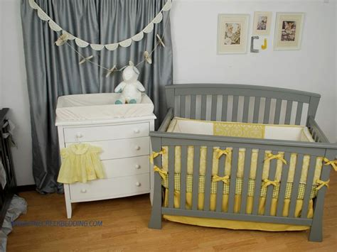 Rosette Crib Bedding by Gold And Grey Crib Bedding Paper Doily Banner And Vintage Paper Rosette Banner Made By Back At