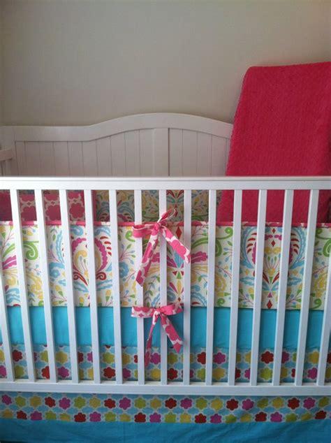 pink and turquoise crib bedding aqua and pink crib bedding set ready to ship crib