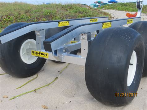 boat trailer wheels for sand bigfoot 4 wheel beach dolly florida sailcraft florida