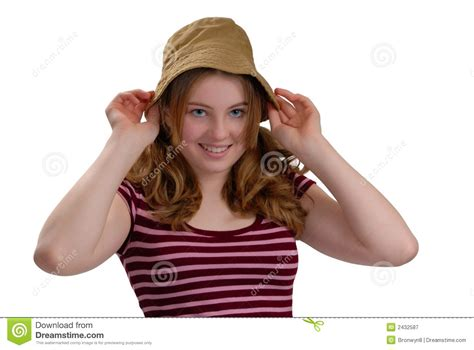 Tries On Hats by Trying On Hats Royalty Free Stock Photography Image 2432587