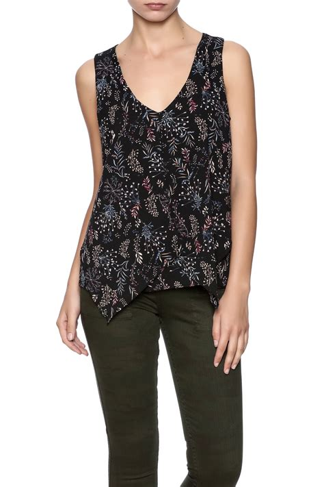 dex floral sleeveless top from by the closet