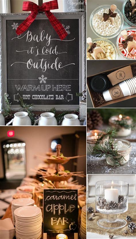 five winter wedding shower themes you ll