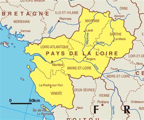 pays de loire carte geographique