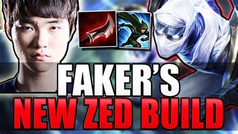 best zed build faker s zed build new best build league of legends