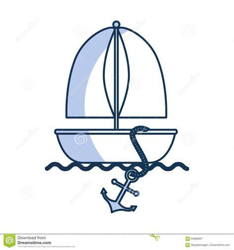 sailboat icon free vector sailboat marine isolated icon stock vector illustration