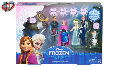 disney toys disney frozen complete story dolls collection by review tv elsa