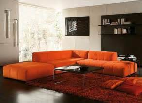 Orange Sofa Living Room Decorating Ideas Using Orange Sofa In Living Room Freshnist