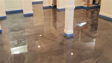 Residential Basement Epoxy Floor in Raleigh NC
