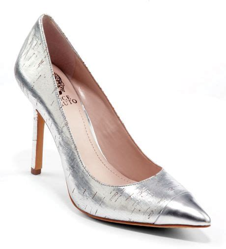 silver pointed toe high heels vince camuto pointed toe cap toe pumps harty2 high heel in