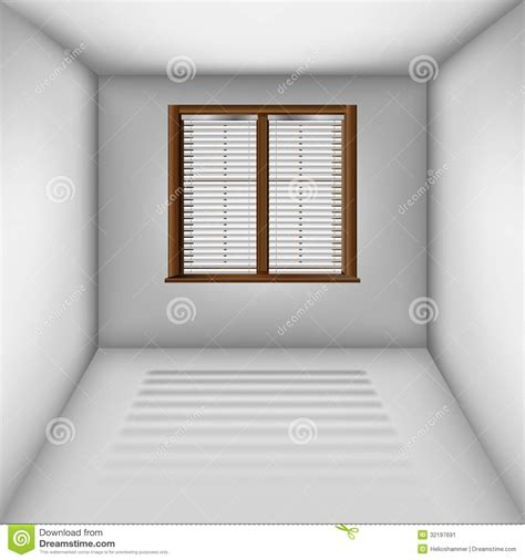 Simple 4 Bedroom House Plans Empty Room With Window And Blinds Stock Image Image