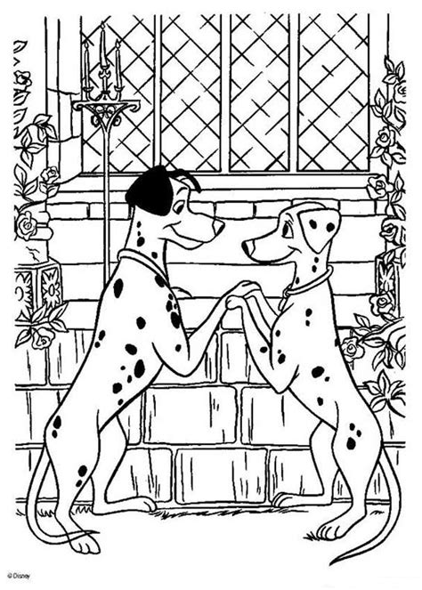 pongo and perdita in love coloring pages hellokids com
