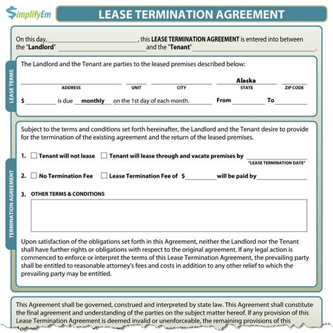 Lease Termination Agreement Form California California Lease Termination