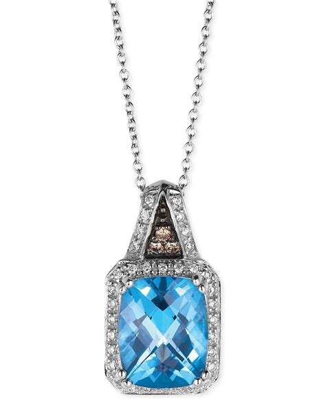 Sherry Topaz 10 02 Ct le vian blue topaz 3 ct t w and 1 8 ct t w