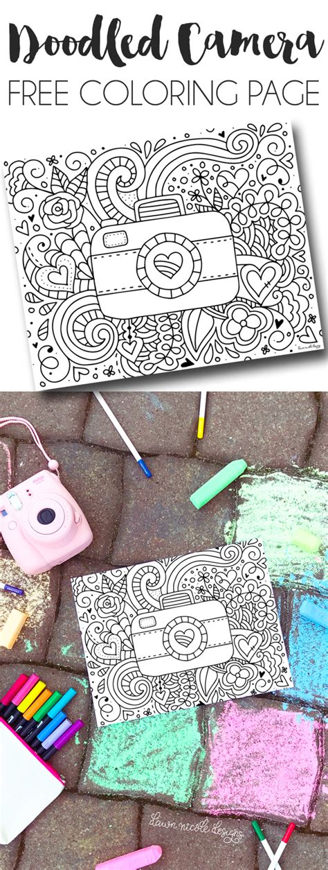 doodle fill free doodled free printable coloring page