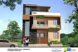 amazing House Building Plans Indian Style #2: Modern+North+Indian+Style+villa+design.jpg