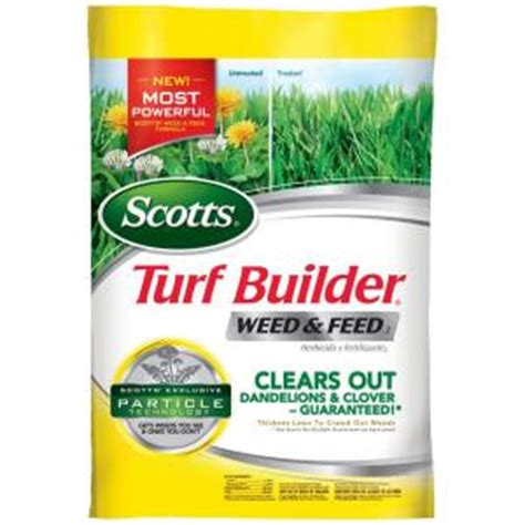 scotts 15 lb 5 m turf builder and feed 25006 the