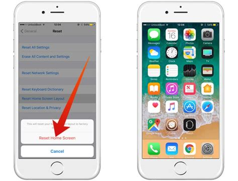 Screen Default how to reset home screen layout on iphone and